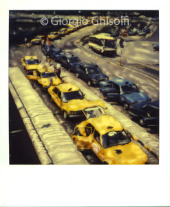 Cabs at Linate airport - 1984