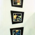 Three vintage Polapaintings shot in Berlin 1989-91, printed on canvas.